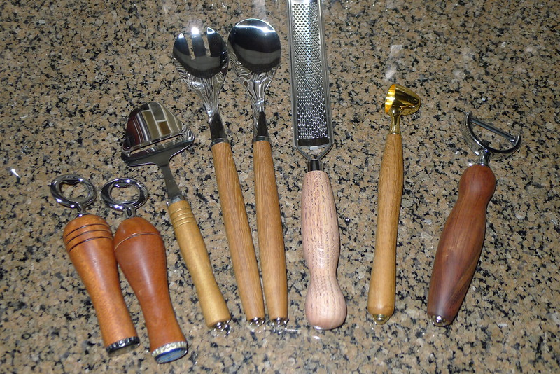 Handles for kitchen tools