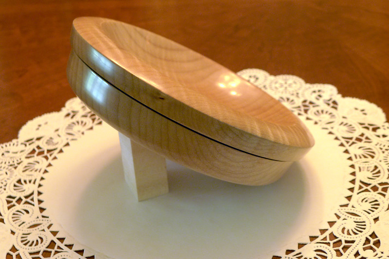 Curly Maple bowl - side view