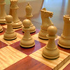 Chessboard (not the chessmen) - Curly Maple and Padauk