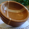 """Flag of Switzerland"" bowl - Cherry and Maple - 8"" diam."