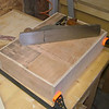 Glueing the drawer base in. Its also secured with a few brads.