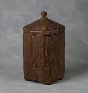 Jar in fumed oak