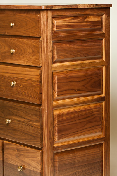 Walnut Dresser Detail