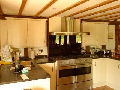 Kitchen Fitted in grade 2 listed Tudor Barn conversion.