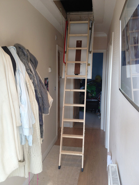 Loft hatch and ladder supplied and fitted