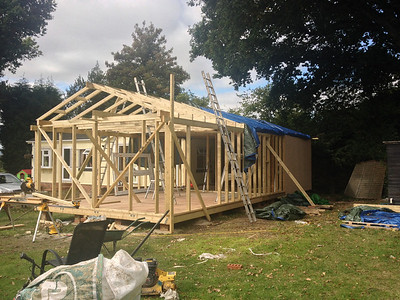 timber house construction