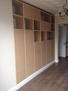 finished cupboard with doors