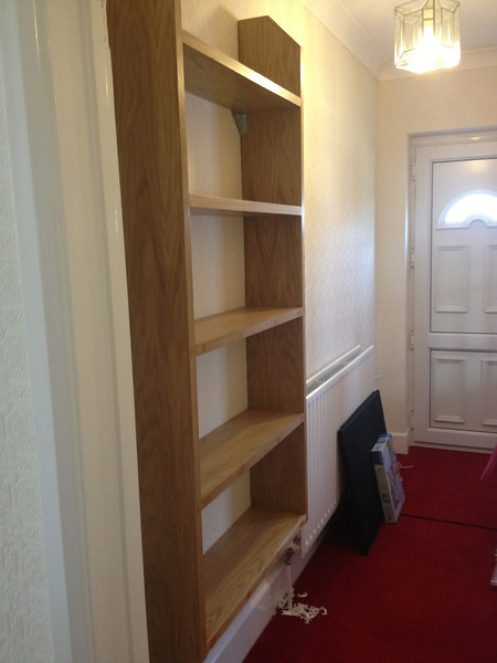 Oak bookcase made to order