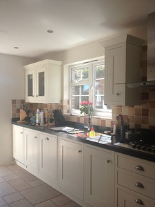 Howdens kitchen with corian worktops