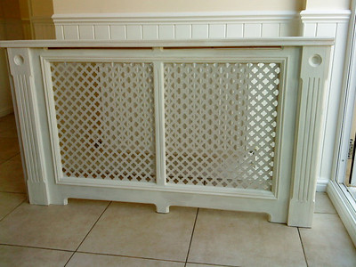 Radiator cover ready for fitting in customers house