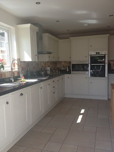 Howdens painted solid oak framed kitchen , supplied and fitted