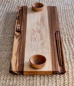 Zebrawood/Maple Sushi Tray