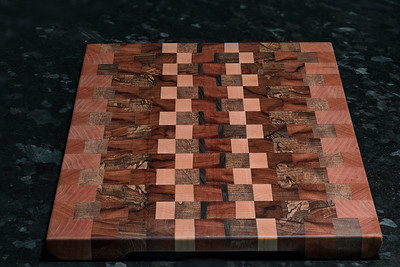 Spalted Pecan, Maple, Mahogany, Cherry and Walnut End Grain