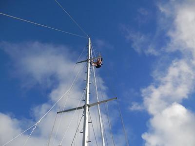 Glen up the mast
