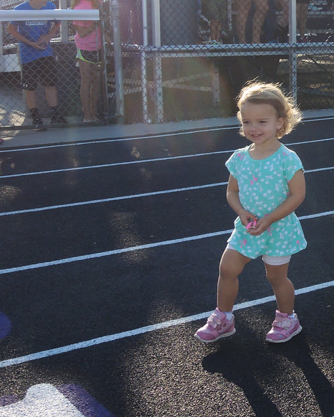 Rosie......4 Feet from the finish Line..but then slowed down and came in 4th.