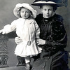 Unknown child and Lady photographed in Burton on Trent