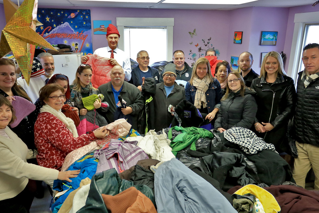 . Worcester County Sheriff Lewis G. Evangelidis distributed thousands of winter coats to families & charitable organizations in need throughout Worcester County for the Sheriff�s Annual Winter Coat Drive on Wednesday, December 5, 2018. One of their stops was the Spanish American Center in Leominster which got about 600 of the jackets they collected. SENTINEL & ENTERPRISE/JOHN LOVE