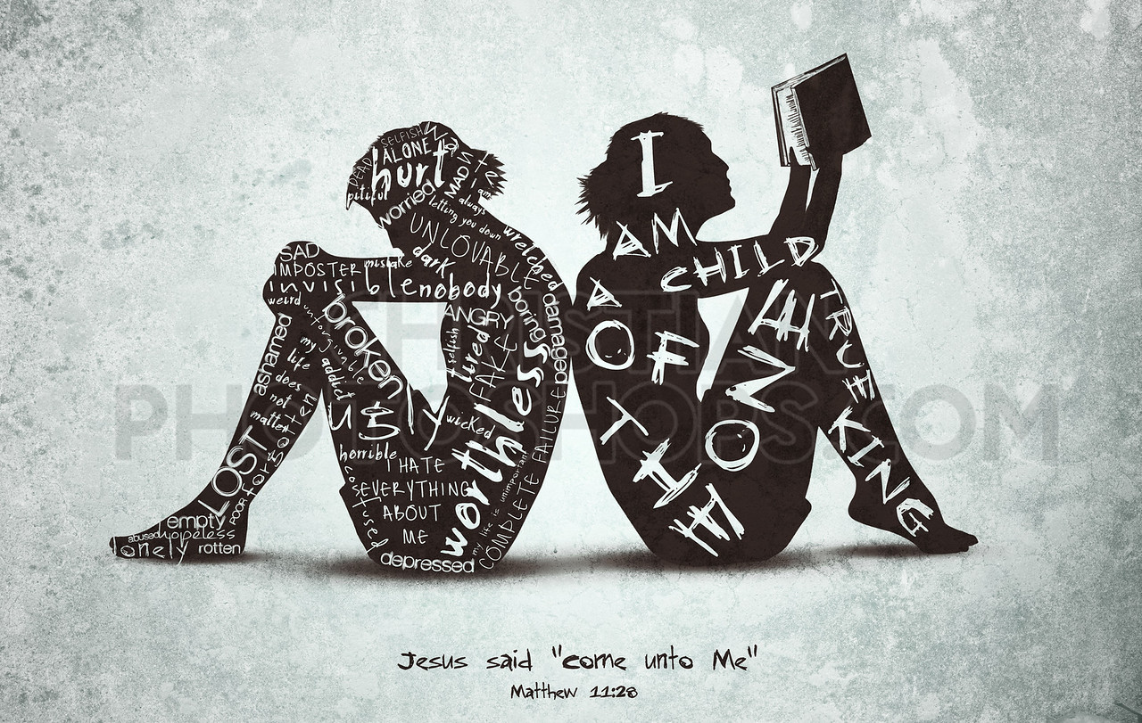 Word art with women and Bible