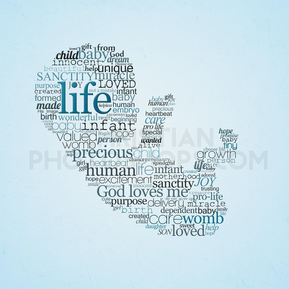 Unborn Baby word art
