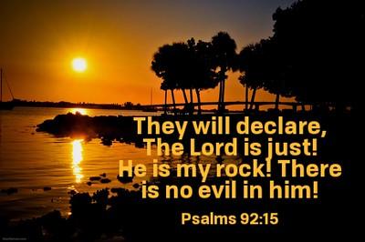 Psalms 92:15 NLT