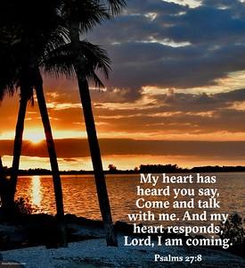 Psalms 27:8 NLT