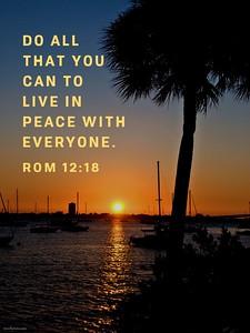 Romans 12:18 NLT
