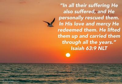 Isaiah 63:9 NLT