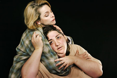 JoAnne Winter and Amy Kossow in Word for Word's production of Three Blooms-- three luminous short stories by Amy Bloom