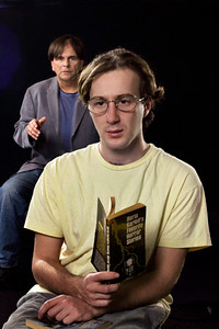 L-R, Paul Finocchiaro and Zac Jaffee in Michael Chabon's More Than Human, touring France in Spring, 2004