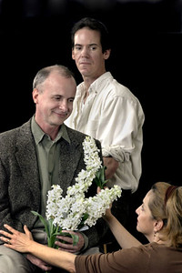 L-R Wm.Todd Tressler, Robert Parsons, and JoAnne Winter in Word for Word's production of Three Blooms-- three luminous short stories by Amy Bloom