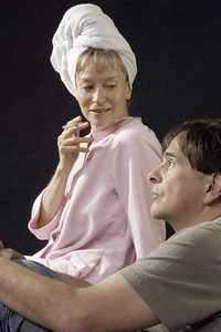 Nancy Shelby and Paul Finocchiaro in Richard Ford's Communist, touring France in the spring of 2004.