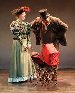 "(L-R) Stephanie Hunt and Brian Keith Russell in Word for Word's Epiphanies: ""The Necklace."" Photo by Clayton Lord."
