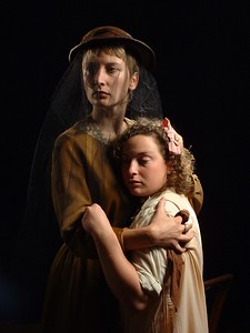 Carrie Paff and Danielle Levin in the Word for Word production of Steinbeck's Pastures of Heaven. (2002)