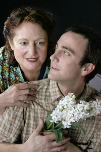 L-R Patricia Silver and Peter Parish in Word for Word's production of Three Blooms-- three luminous short stories by Amy Bloom