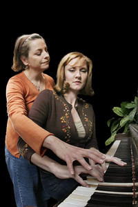 JoAnne Winter and Katy Stephan in Word for Word's production of Three Blooms-- three luminous short stories by Amy Bloom