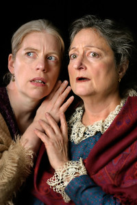 "(L-R) Stephanie Hunt and Patricia Silver in Word for Word's Epiphanies: ""A Jury of Her Peers."" Photo by Mark Leialoha."
