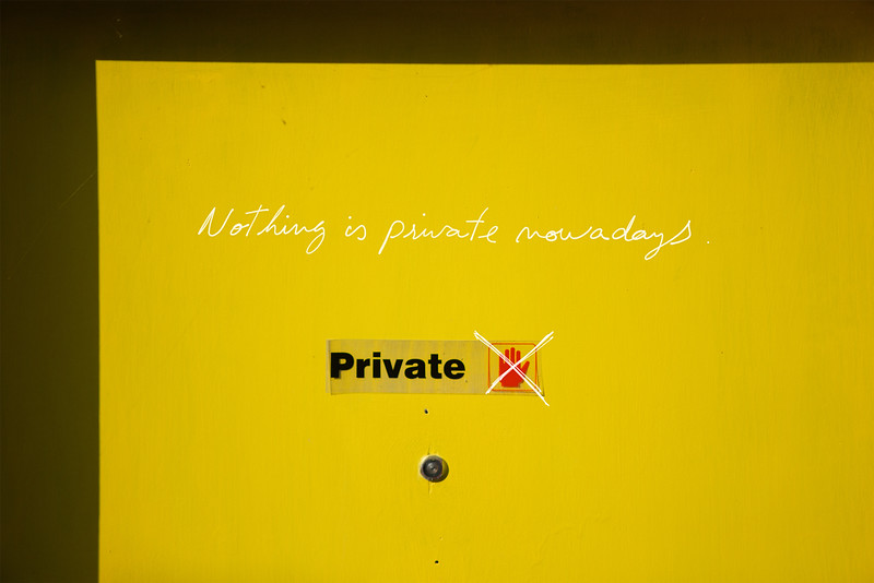 Nothing is private nowadays