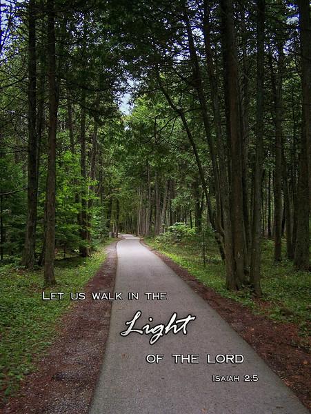 Walk in the Light Isaiah 2:5