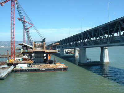 Pier construction for the roadway