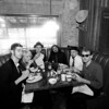 The White Ghost Shivers enjoying a pre-performance meal at Stubb's in Austin, Texas.