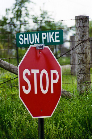 "Shun.piking  (shŭn´·pīk´·ĭng)  v.: taking a side road instead of a turnpike or expressway to avoid tolls or to travel at a leisurely pace.<br /> 	Origin: 1850–55, Americanism; SHUN + (turn)pike.<br /> <br /> According to Merriam-Webster, ""toll roads have actually existed for centuries (the word 'turnpike' has meant 'tollgate' since at least 1678). In fact, toll roads were quite common in 19th-century America, and 'shunpike' has been describing side roads since the middle of that century, almost half a century before the first Model T rolled out of the factory.""<br /> <br /> Today there are leaf peepers (those who take pleasure in viewing fall foliage) and pie riders (those in search of the perfect slice of homemade pie), but we are shunpikers (those who prefer to meander on the backroads).  In every season of the year and for thousands of miles each year, we take to the backroads.  Sometimes there is a final destination, with shunpiking along the way, and sometimes shunpiking IS the destination."