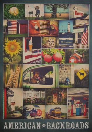 American Backroads Poster, Demdaco, 2014