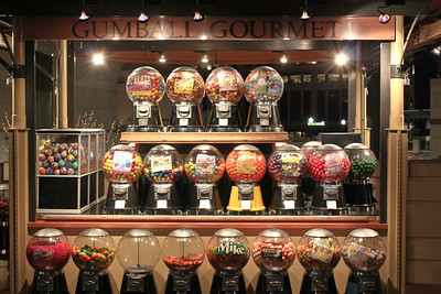 The colors of the gumball gourmet.