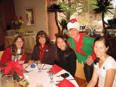 Mara, Eva, Caroline, Kurt (as an elf), and me