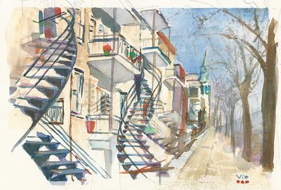 Rue de Montréal 12 X 9 WC