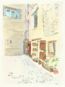 No 231 facade charnue de fleurettes