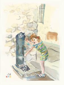 No 234 Jeune fille à la fontaine