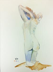 No 103 Faunesse à genou vue de dos