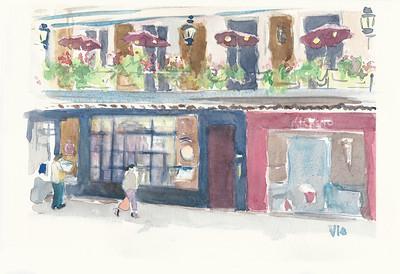 No  14 Le Procope sur la rue de l'Ancienne Comédie