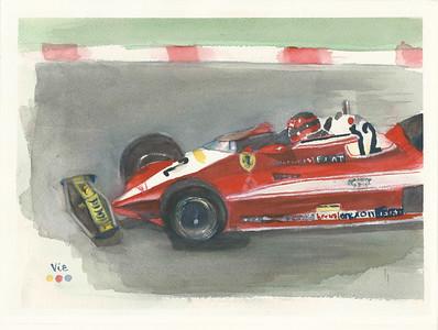 No 155 La Ferrari de Gilles Villeneuve